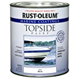 Rust-Oleum 207001 Marine Topside Paint, Oyster White, 1-Quart - 4 Pack (Color: Oyster White, Tamaño: 4-Quarts)
