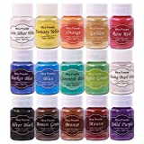 Epoxy Resin Dye Mica Powder 15 Colors for Tumblers Lip Gloss Making Lip Balm Cosmetic Grade Makeup Dye Pigments Set for Slime Powder Kit, Bath Bombs Colorant Candle Soap Making (Color: 15-NEW)
