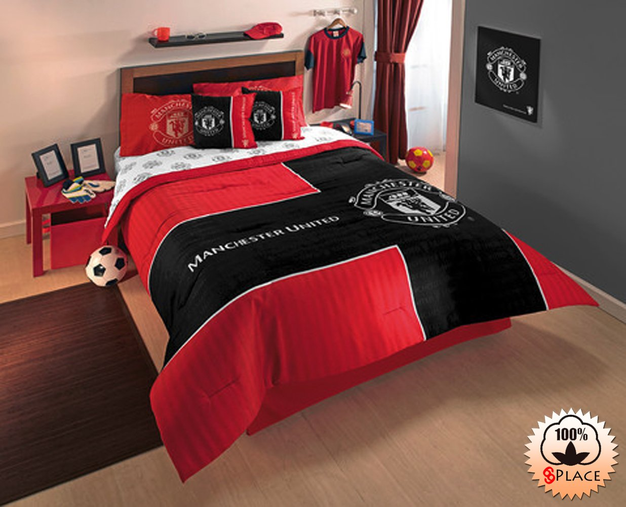 Manchester united bedroom ideas beautiful bedroom for Man u bedroom ideas