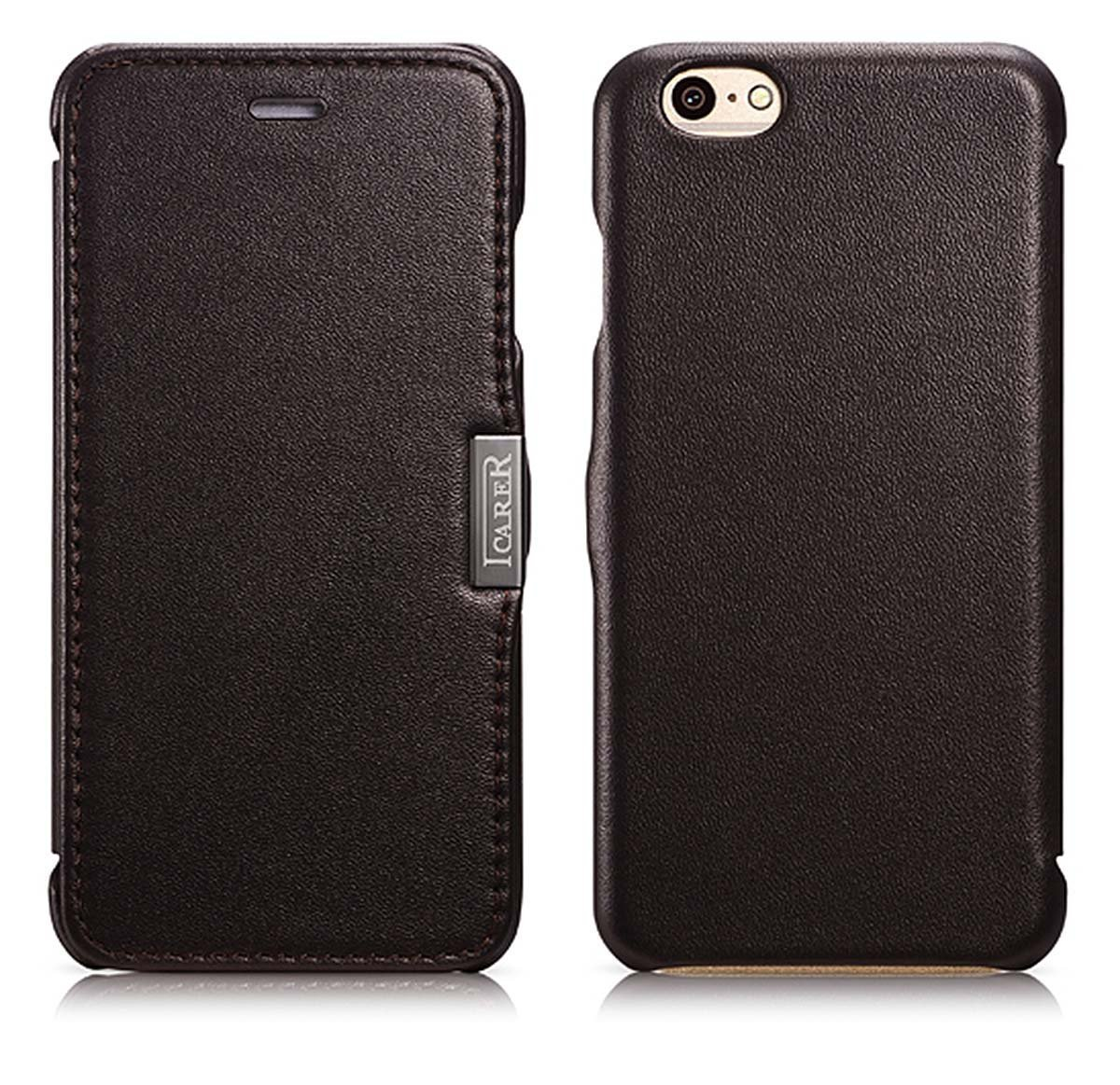 MH Designs iPhone 6 Italian Leather Smartphone Case (buffed dark brown)Customer reviews and more information