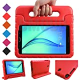 BMOUO Kids Case for Samsung Galaxy Tab A 8.0 (2015) SM-T350 - EVA ShockProof Case Light Weight Kids Case Super Protection Cover Handle Stand Case for Kids Children for Samsung TabA 8-inch Tablet - Red (Color: Red, Tamaño: Galaxy Tab A 8.0)