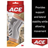 ACE Knitted Knee Brace with Side Stabilizers, Extra Large, America's Most Trusted Brand of Braces and Supports, Money Back Satisfaction Guarantee (Tamaño: X-Large)