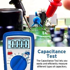 Etekcity MSR-A600 Digital Multimeters, Electrical Volt Amp Ohm Voltage Tester Auto-Ranging Multimeter voltmeter with AC/DC Current Resistance Continui