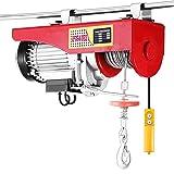 VEVOR Electric Hoist Lift 440LBS 200KG Overhead Electric Hoist 110V Electric Wire Hoist Remote Control Garage Auto Shop Overhead Lift (200kg)