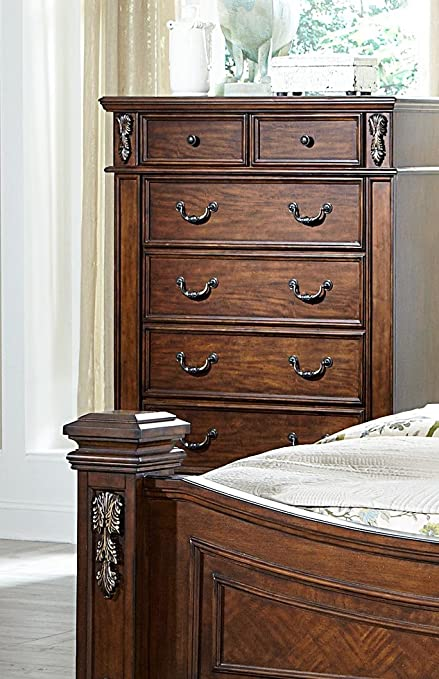 Homelegance Donata Falls 6 Drawer Chest In Warm Brown