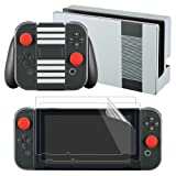 eXtremeRate NES Edition Full Set Skin Sticker Decal for Nintendo Switch with Screen Protector (Console & Joy-con & Dock & Grip) (Color: NES Edition)