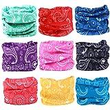 KALILY Headwear Head Wrap Sport Paisley Headband Sweatband – 200+ Patterns Magic Scarf for Camping, Running, Cycling, Fishing etc (Color: O Pack, Tamaño: Medium)