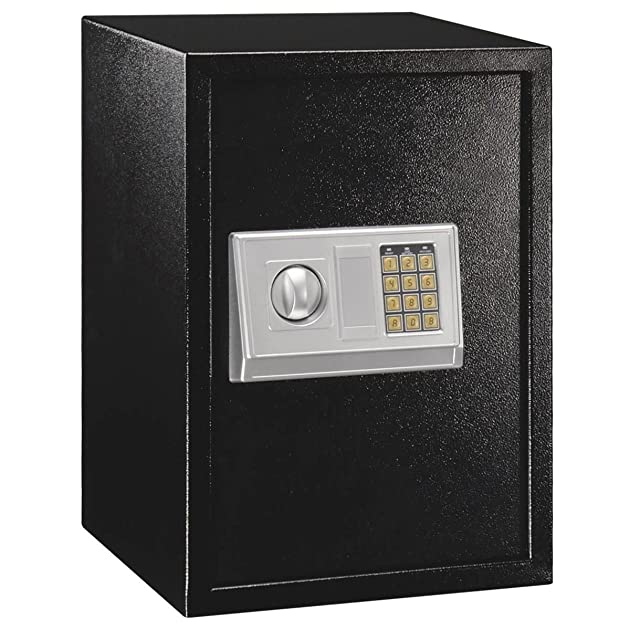 2 2cf keyless large digital safe home gun cash box. Black Bedroom Furniture Sets. Home Design Ideas