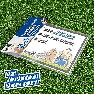 """Klingelschild """"Anti-Hamburg"""" Schützt Haus & Hof vor HSV-Fans. Achtung: Witziges Geschenk für alle Werder-, St.Pauli- und alle Fußball-Fans, Freunde, Kollegen, Geburtstage und Partys - Klingelschilder, Büroschilder, Türschilder, Warnschilder, Hunde Ve"""