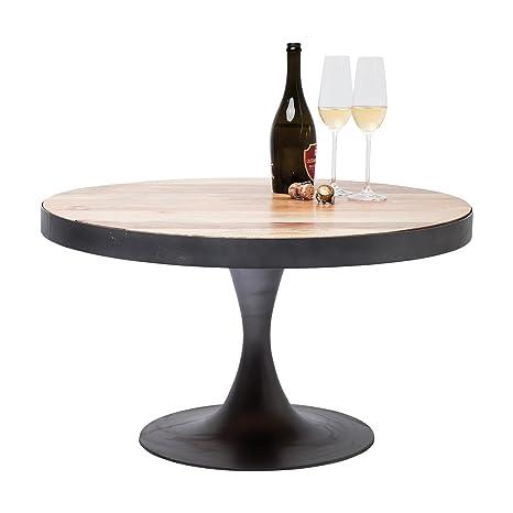 Kare Design mesa de centro redonda 80 cm estructura de aluminio negro Connection