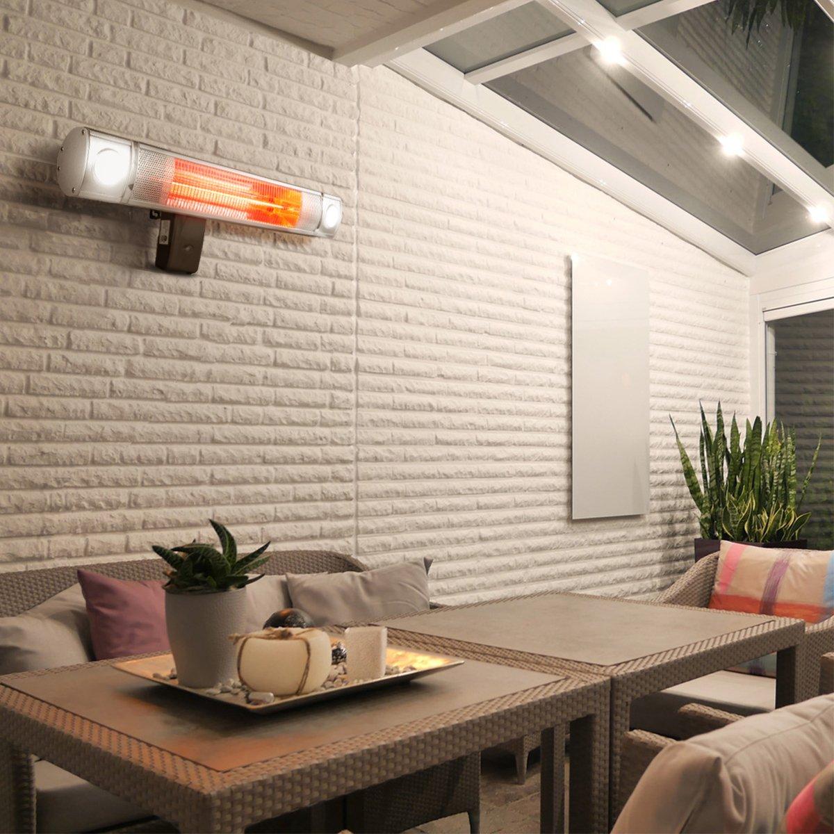 """XtremepowerUS Wall-mounted Infrared 1500 Watt Heater, 28"""""""