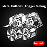 Mobile Phone Game Joystick Four Finger Fire Aim Button Trigger L1 R1 Shooter Metal Key with Gamepad for Fortnite PUBG (2pcs Trigger Gamepad) (Color: 2pcs trigger gamepad, Tamaño: Aim Button Trigger)