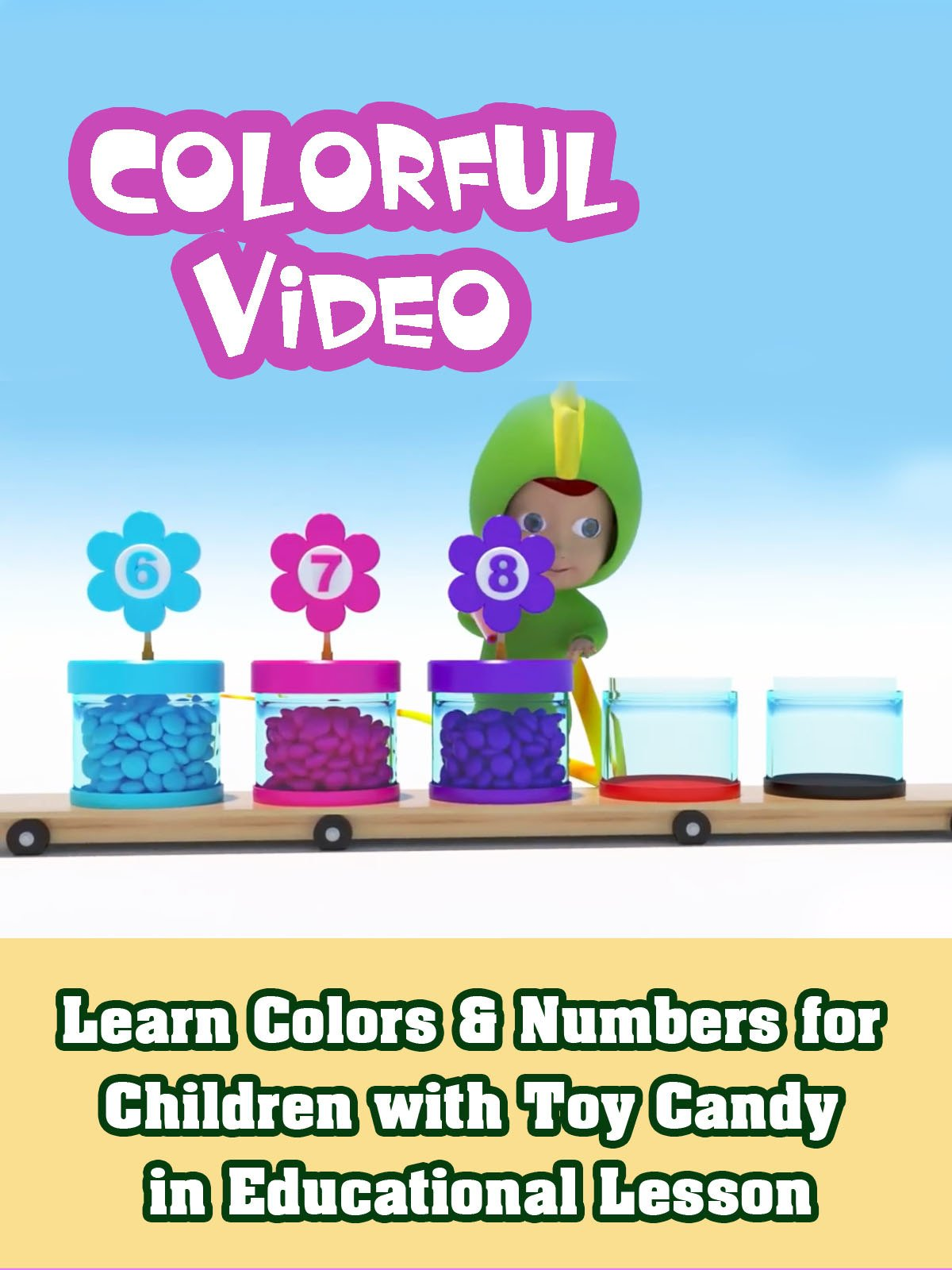 Learn Colors and Numbers for Children with Toy Candy in Educational Lesson