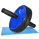 JBM Abdominal Wheel Roller Abwheel Abroller Ab Core Trainer Equipment Dual Wheels Rubber Handle Anti Slip for Exercise Workout Gym Fitness Crossfit -