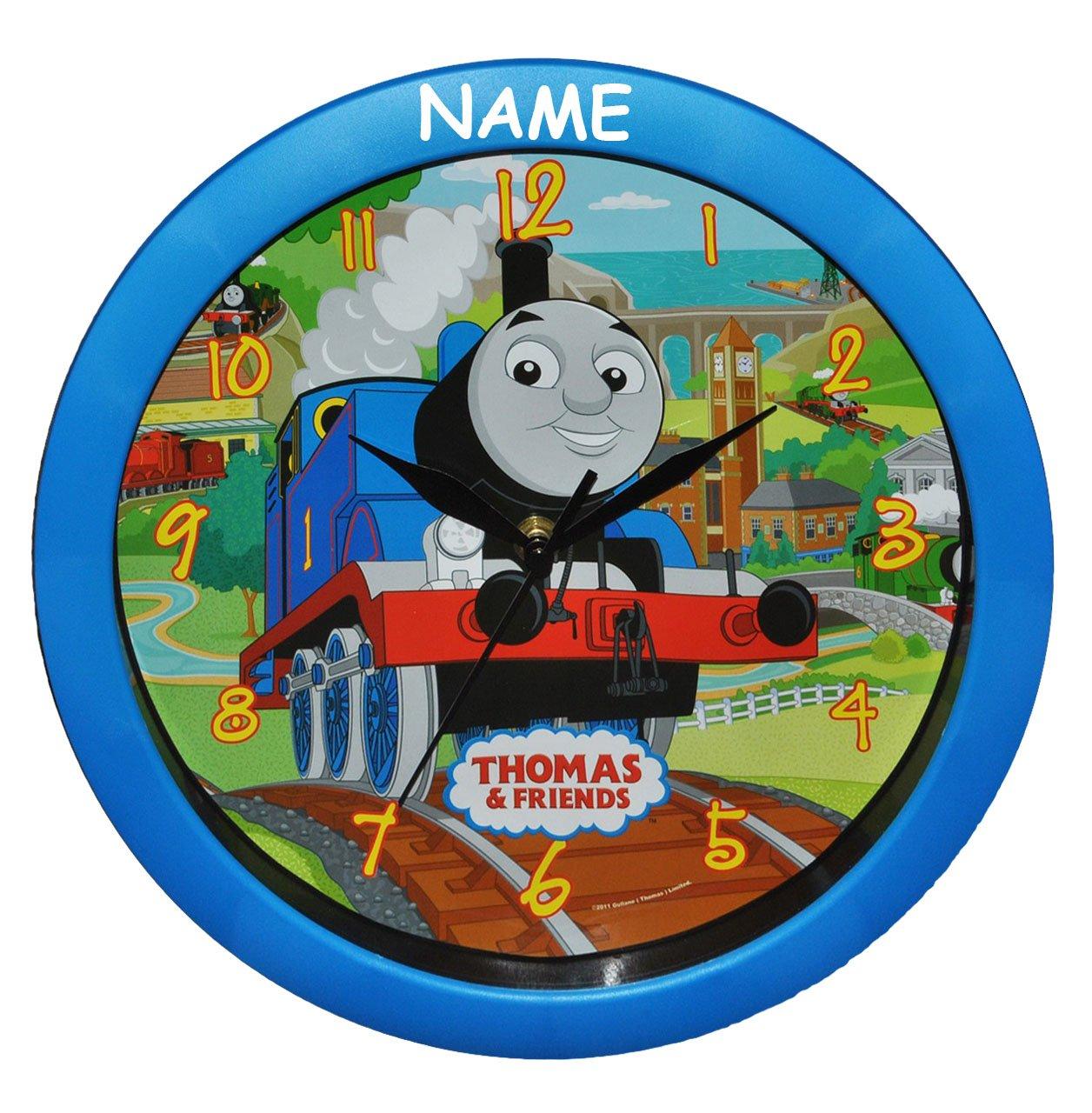 Wanduhr Thomas die Lokomotive incl. Name – 29 cm groß Uhr – für Kinderzimmer Kinderuhr – Analog Jungen Eisenbahn Lok Zug Bahn Züge günstig bestellen