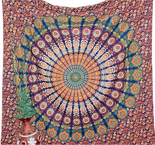 Fashiana Multicolore Mandala Tapisserie Mur Indienne Suspendre Drap