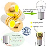 Wiseshine bau15s led amber ry10w py21w 7507 5009 1156py bau15s s25 bulb DC9-30v 3 years quality assurance (pack of 2) bau15s 4 led high power Yellow