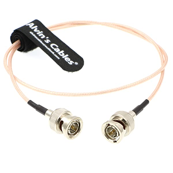 HD SDI Video Cable BNC Male to Male for BMCC Video Out Blackmagic Camera (Color: Straight to Straight 60CM)