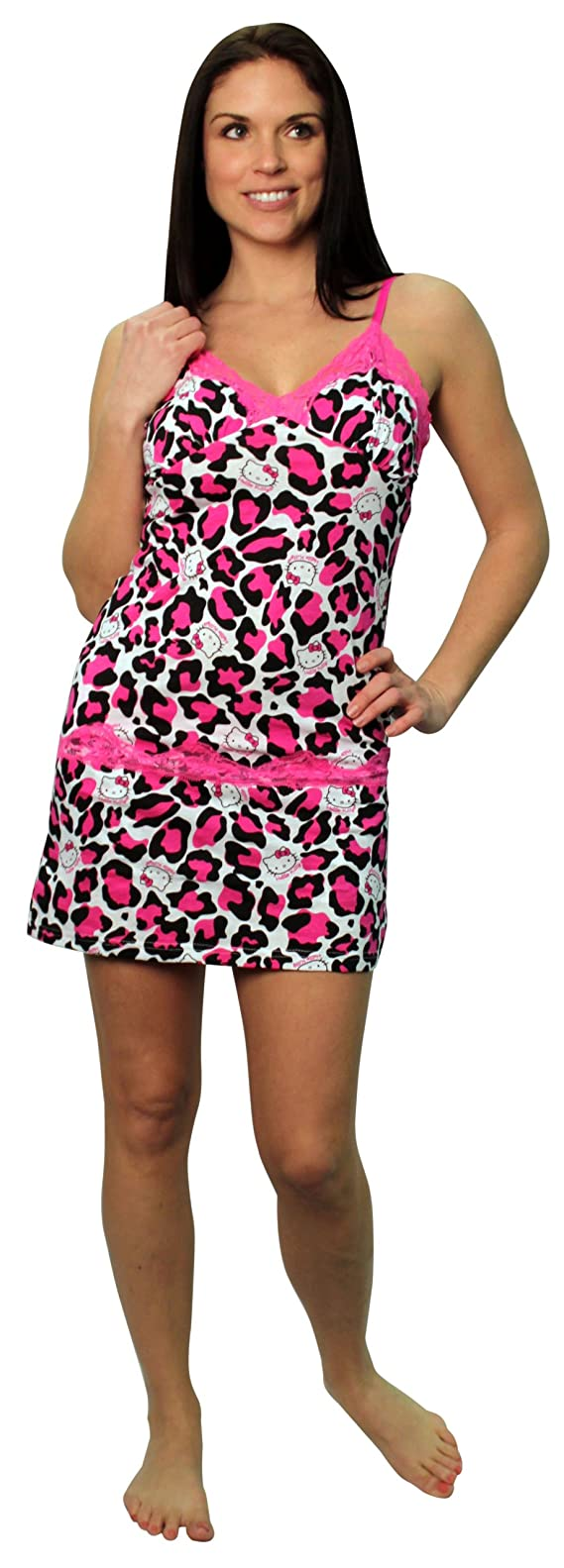Hello Kitty Wild Wild Cat Pink and Black Chemise and Short