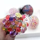 MEIFU New Anti Stress Balls (6.5cm /2.56 in)- Mesh Balls (Color Random 2PC) – Multi Color Squeeze Grape Balls – Stylish Squishy Balls are Perfect Stress Relief Balls for Everybody