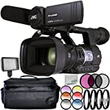 JVC GY-HM620 ProHD Mobile News Camera 7PC Accessory Bundle – Includes 3 Piece Filter Kit (UV + CPL + FLD) + 4PC Macro Filter Set (+1,+2,+4,+10) + MORE