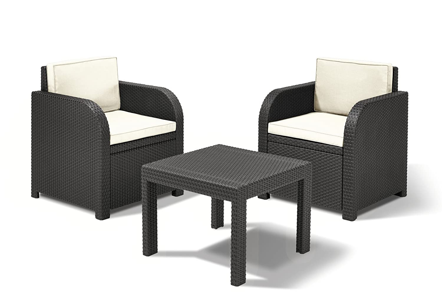 sitzgruppe florida rattan optik graphit 3 teilig kaufen. Black Bedroom Furniture Sets. Home Design Ideas