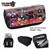Lcrystal for Five Nights at Freddy's Stationary Pencil Holder Bag, Packing Organizer, Cosmetic Bag, Animation Purse - Black