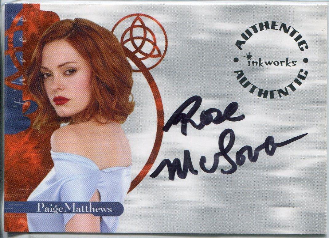 Charmed Power der drei Autogrammkarte, A8, Rose McGowan Dartpfeil, jetzt kaufen