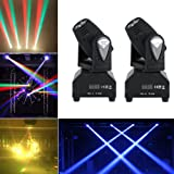 2pcs/Set 50W LED RGBW Moving Head Stage Light DMX512 Disco DJ Party Effect Lights US Plug 110V (Color: As Picture Shown, Tamaño: As Picture Shown)