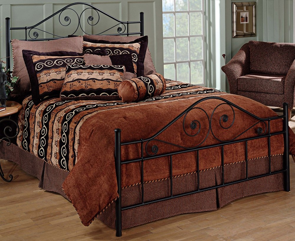 Hillsdale Furniture 1403BQR Harrison Bed Set with Rails, Queen, Texture Black 0