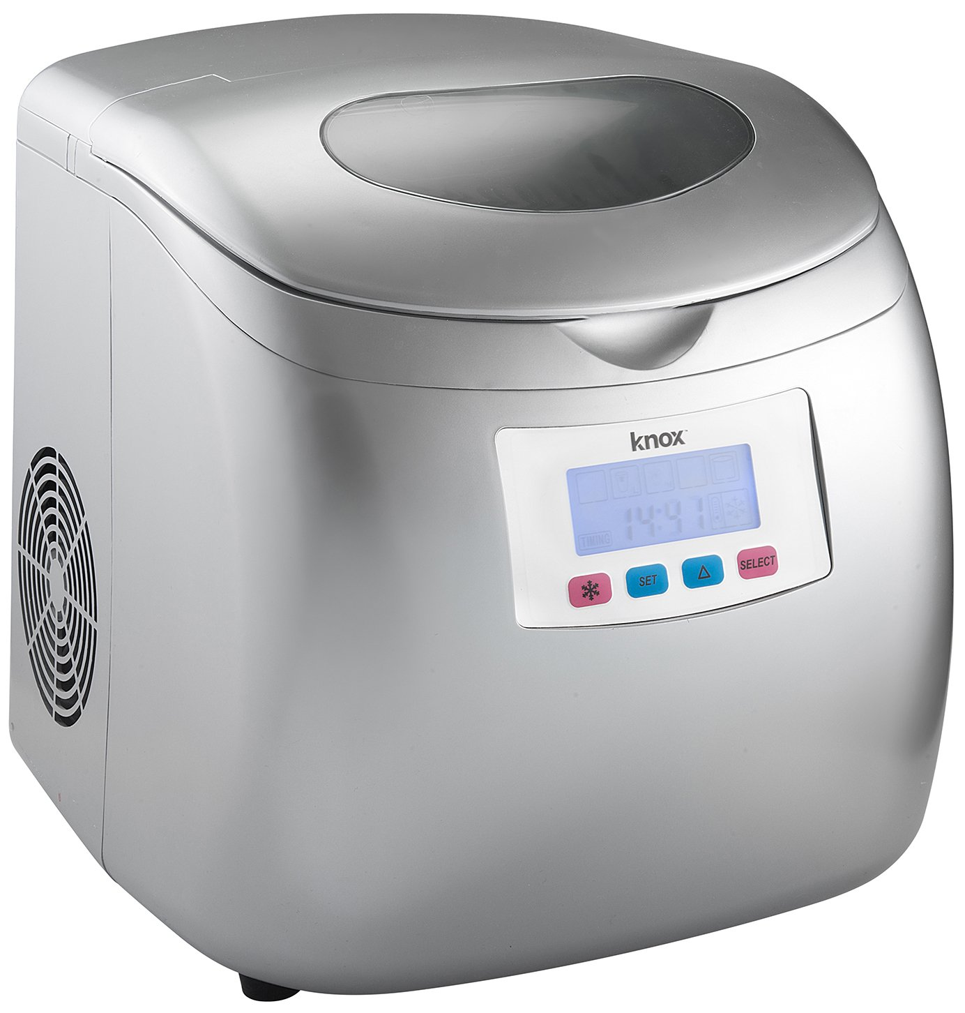 Knox Portable Compact Ice Maker with LCD Display Silver