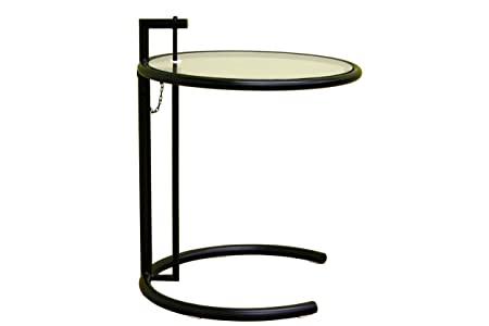 Baxton Furniture Studios Costa Metal Coffee Table with Glass Top, Black