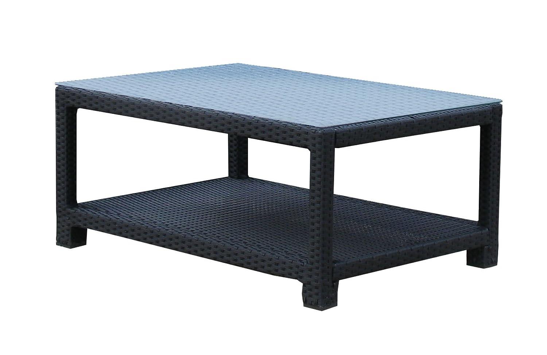 Lounge Tisch Pepe 100x70cm Schwarz günstig