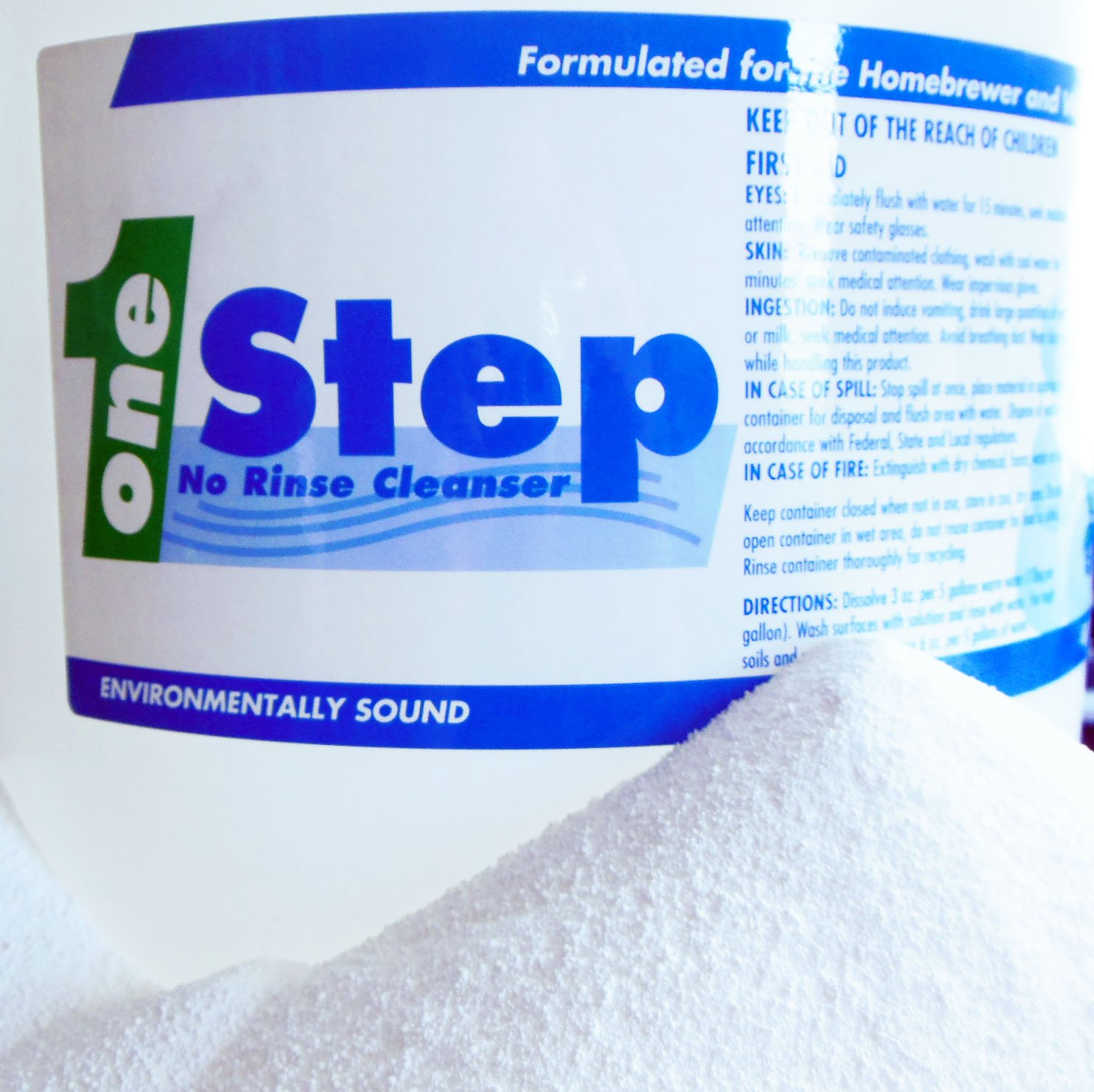 One Step No Rinse Cleaner - 5 Lb. one step behind