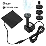 Ankway Solar Water Pump Kit 1.2W 3M/9.8ft Wire Length Solar Power Water Water Pump Kit