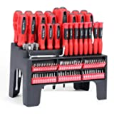 100-Piece Magnetic Screwdriver Set with Magnetic Tips and Bits Set, Professional Repair Tool,Plastic Racking