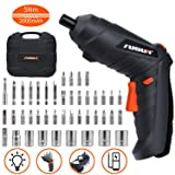 Electric Screwdriver, 5 N.m Cordless Screwdriver Rechargeable 2000 mAh Li-on Battery with 44 Pcs Screw Bits for Home DIY and Fit for Ladies, Newbies and Experienced, Front LED Light, Carrying Box (Color: Screwdriver+44pc Bit Set)