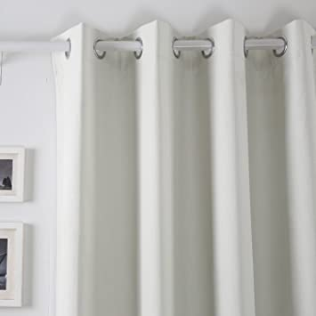 Amazon.com - Deconovo Color Selections Energy Saving 52 x 84-inch Blackout Solid Cream Thermal Insulated Grommet Top Window Curtain Panels For Living Room, 1 Pair -