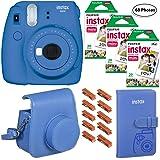 Fujifilm Instax Mini 9 (Cobalt Blue), 3X Instax Film (60 Sheets), Groovy Case, Album and Hanging Pegs (Color: Cobalt Blue)