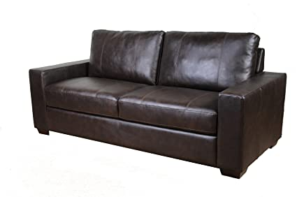 Westport Home Hayward Leather Sofa, Java