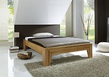 Massivholzbett Stella A Holzbett Buche Bett metallfreies Stecksystem Kernbuche (180 x 200 cm)