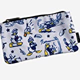 Loungefly Angry Donald Duck Zippered Pencil Pouch (Color: Gray, Tamaño: One Size)