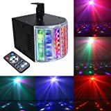 Mini Led Derby Lights Sbolight DJ Disco Party Lights for Stage Lighting With Remote Control for Dancing Christmas Gift Thanksgiving KTV Bar Vocal Concert Birthday (Color: black)