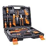 Tacklife 68Piece Household Tool Kit Home Repair Hand Tool Set with Tool Box Storage Case-HHK2A (Tamaño: 68PCS)