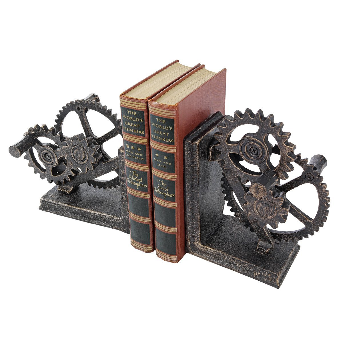 Industrial Gear Bookends