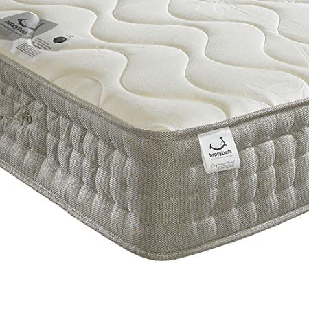 Happy Beds Bamboo 1500 Pocket Sprung Reflex Memory Foam Mattress - UK King