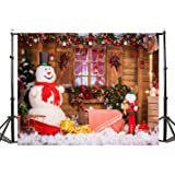 TMOTN 7x5ft Christmas Photography Backdrop Christmas Tree Snowman Background Holiday Children Backdrops Photo Studio D2198 (Color: 2198 7x5ft, Tamaño: 7X5FT)