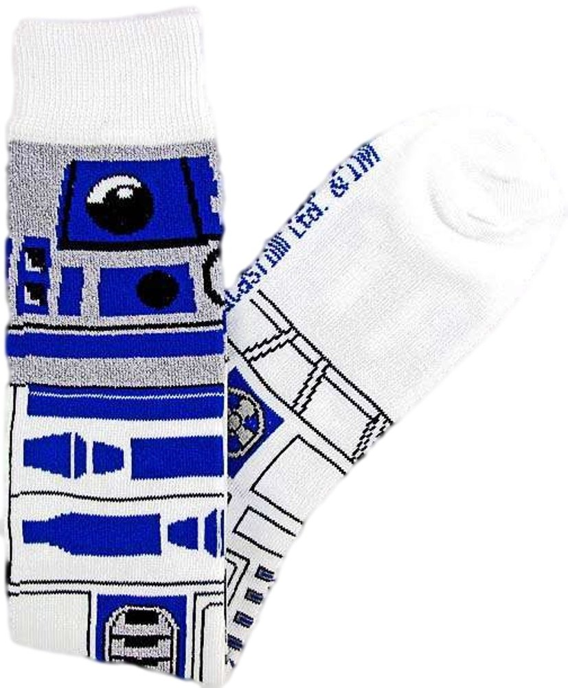 Star Wars R2-D2 (R2D2) Junior/Women's Socks Size 4-10 White