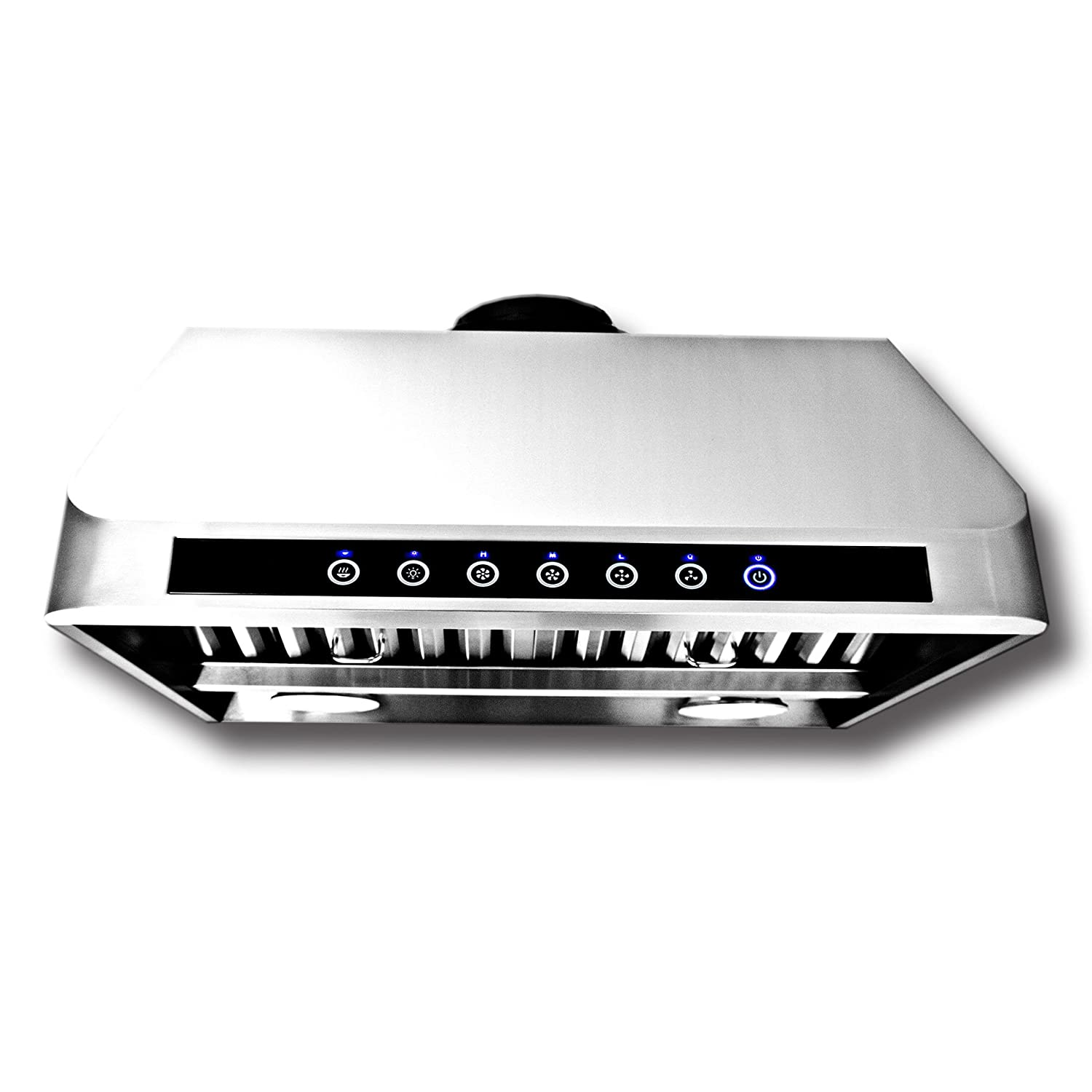 Proline PLJW 101 Wall/Under Cabinet Range Hood - 4 Speed - 2000 Max CFM - Stainless Professional Baffle Filters Dishwasher Safe - 3 Year Warranty - Sizes include 30 36 42 48 54 and 60 inch