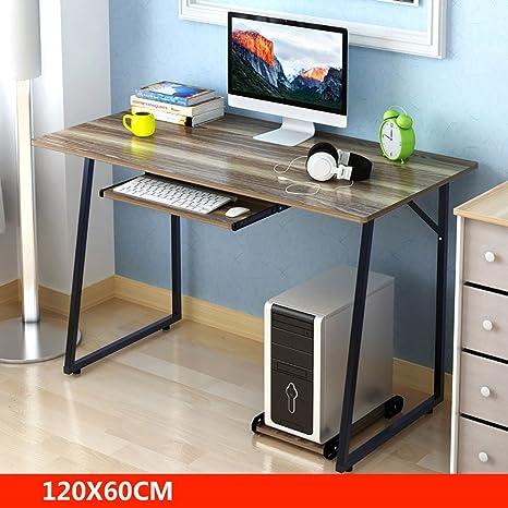 Anjcd Mesa moderna de la computadora de la simplicidad de la simplicidad tabla que aprende mesa multifuncional del escritorio del ordenador portátil 100/120 * 60 * 73cm ( Color : 3# )
